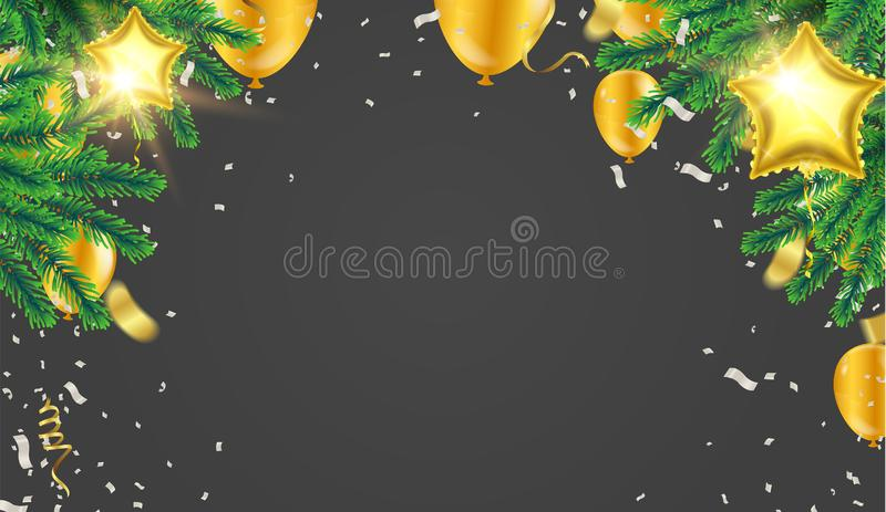 Christmas. Xmas holiday lettering design, typography as banner,. Greeting card, gift package etc stock illustration