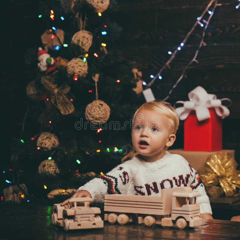 Christmas Xmas winter holiday concept. Merry Christmas. Happy children. Babies. hildren gift. Christmas story concept royalty free stock images