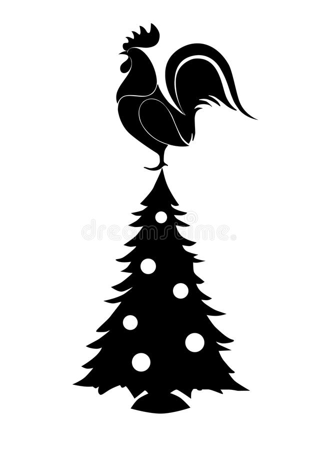 Christmas and the year of the Rooster stock photos
