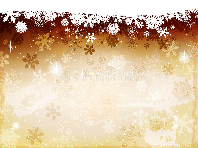 Christmas yellow background vector illustration