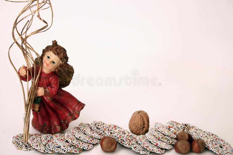 Christmasangel with sweets stock photo