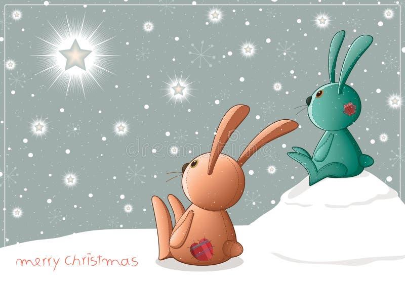 Christmascard_toys ilustración del vector