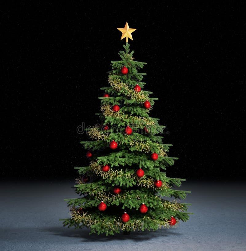 christmass结构树 皇族释放例证