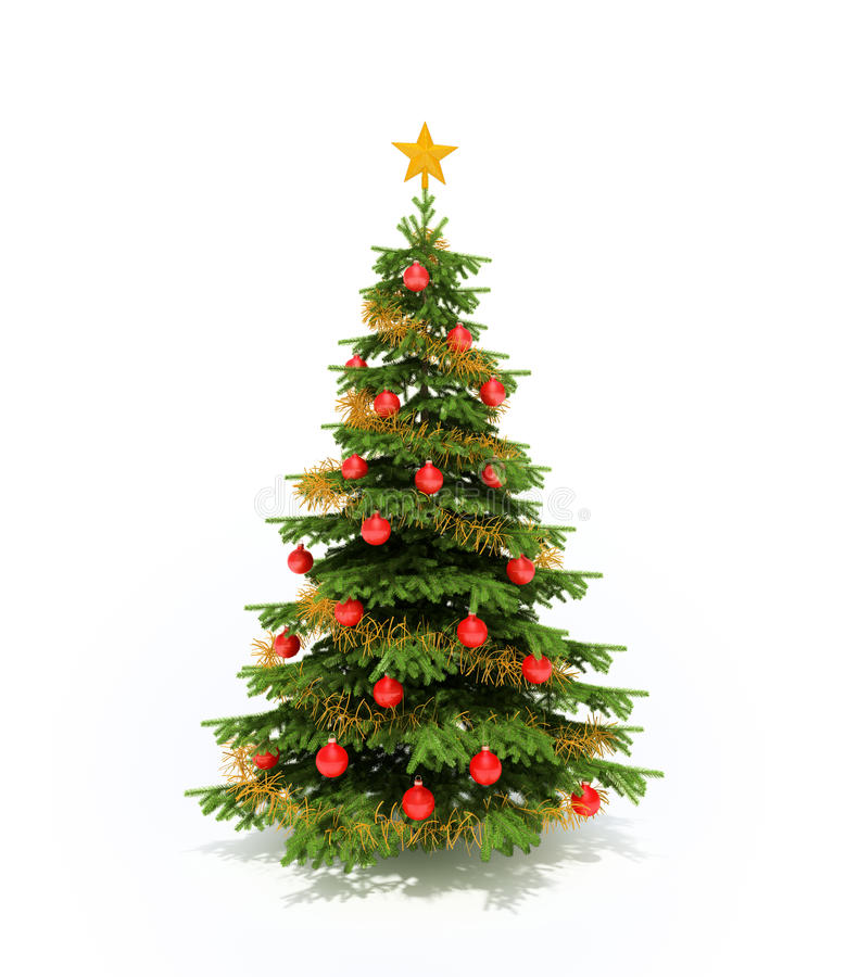 christmass结构树 向量例证