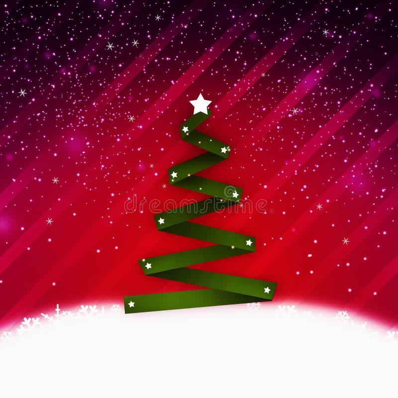 Christmass结构树 库存例证