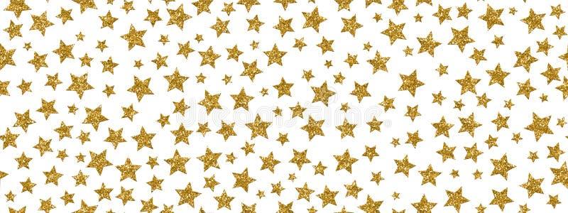 Christmass闪烁金星重复无缝的样式背景 可以为织品,墙纸,文具使用,包装 向量例证