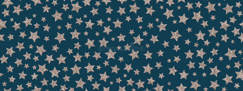 Christmass闪烁银色星重复无缝的样式背景 可以为织品,墙纸,文具使用,包装 库存例证