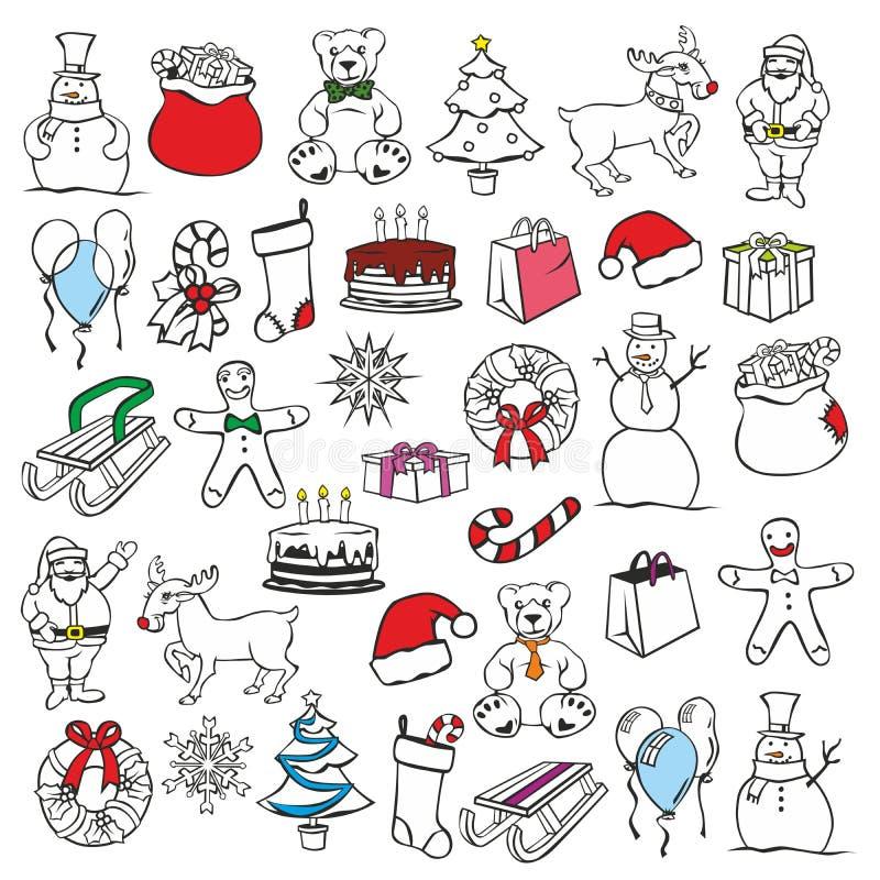 christmass αντικείμενα απεικόνισ&eta ελεύθερη απεικόνιση δικαιώματος