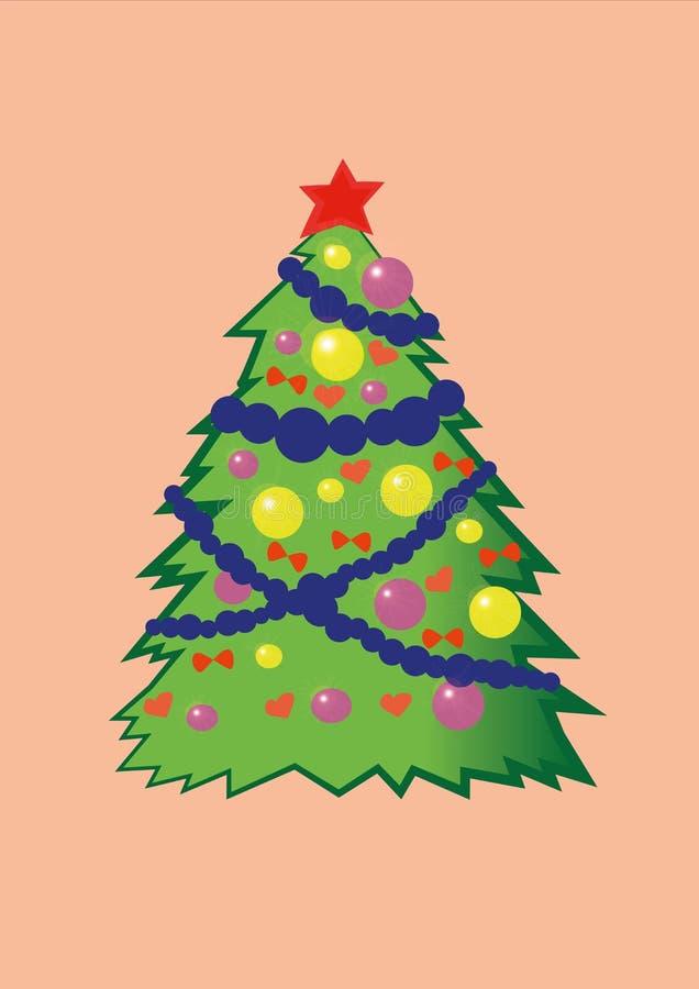 Christmass结构树 免版税图库摄影