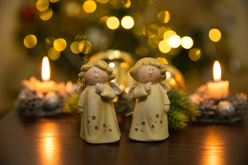 Christmass angels royalty free stock image