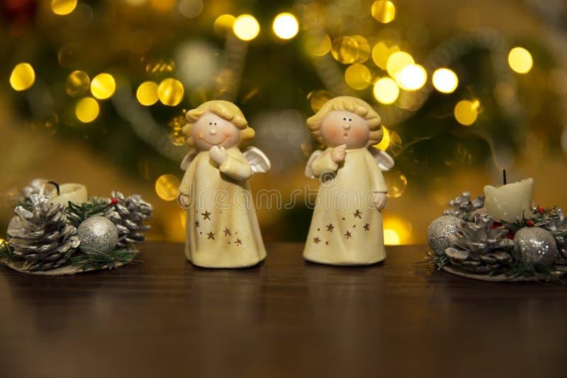 Christmass angels stock photos