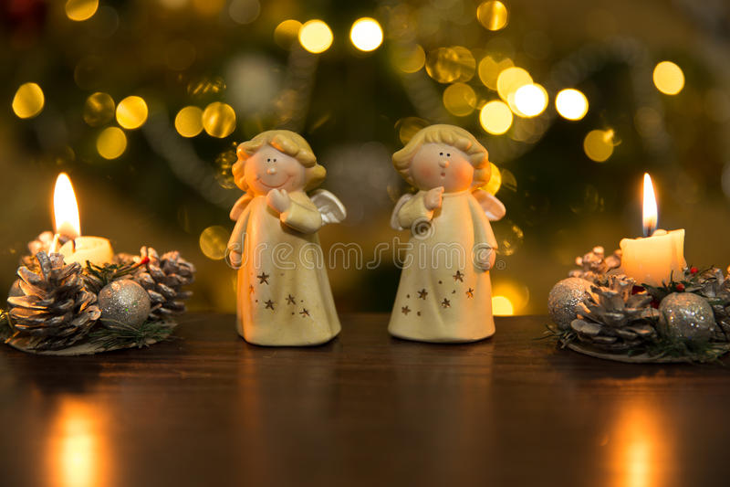 Christmass angels stock image