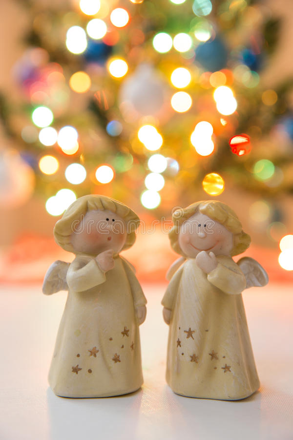 Christmass angels royalty free stock images