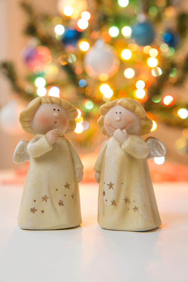 Christmass angels stock photography