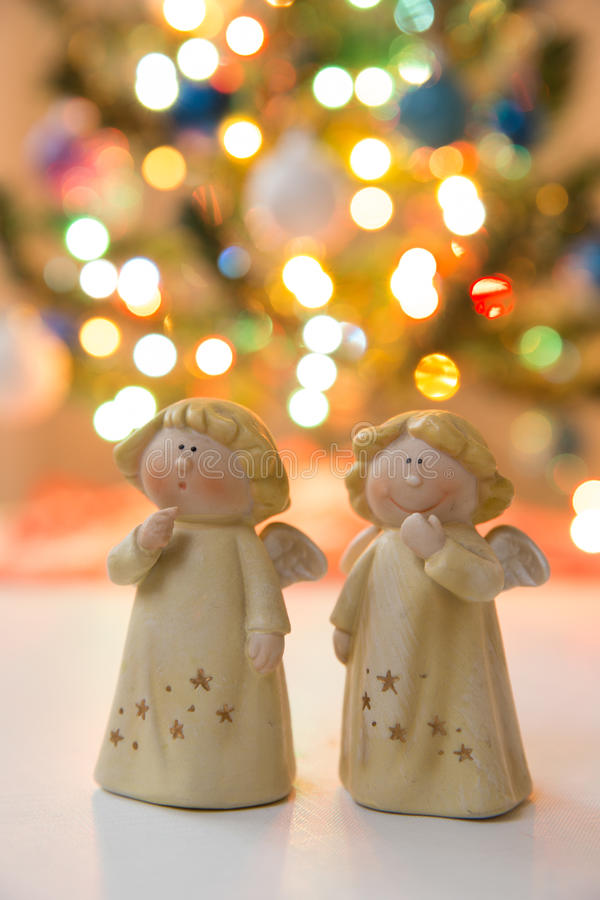 Christmass angels royalty free stock photo