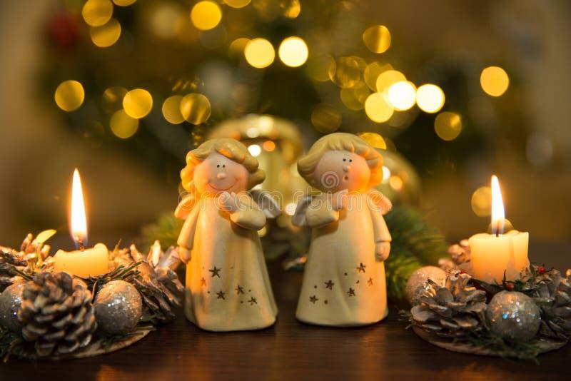 Christmass aniołowie zdjęcia stock