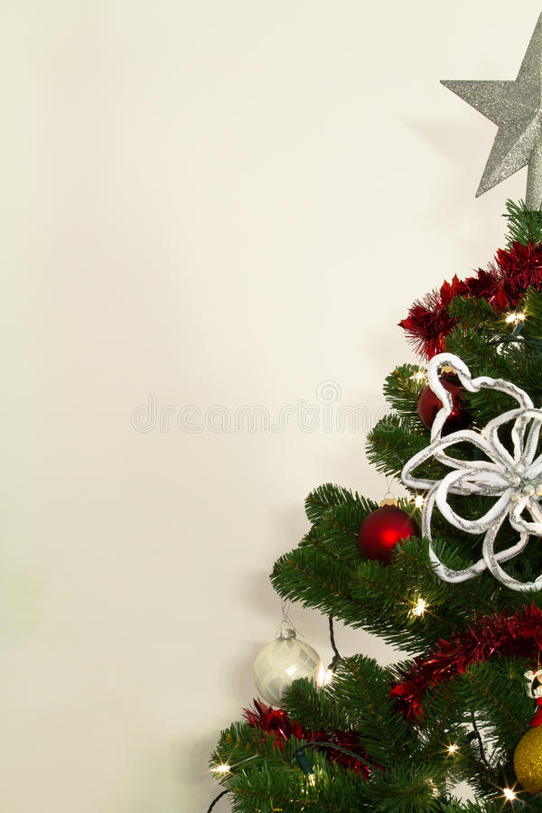 Free Christmass Tree With Decorations And Lights Royalty Free Stock Photo - 17404855