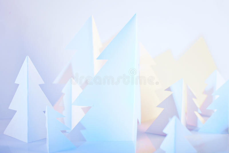 Christmass trees royalty free stock photography