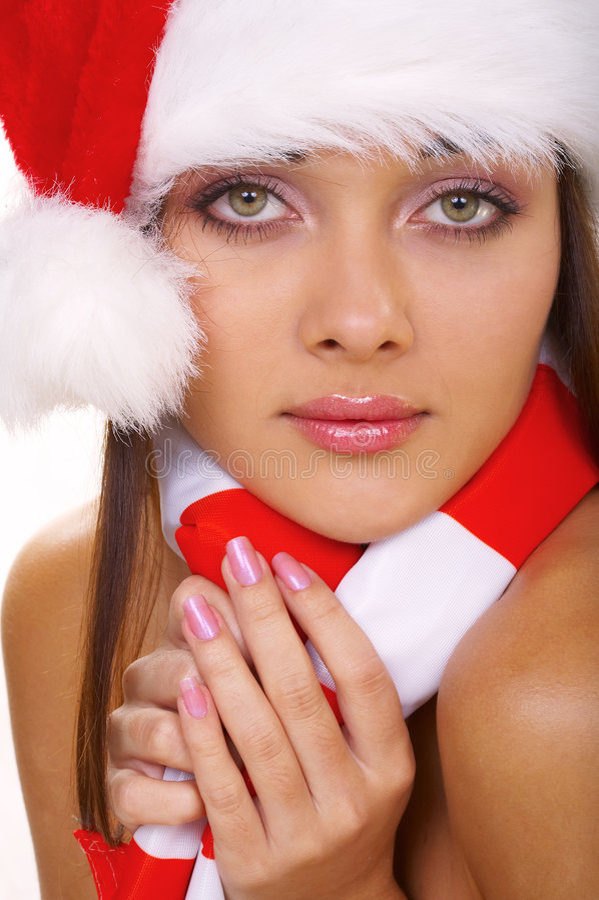 Christmasskvinna Royaltyfria Bilder