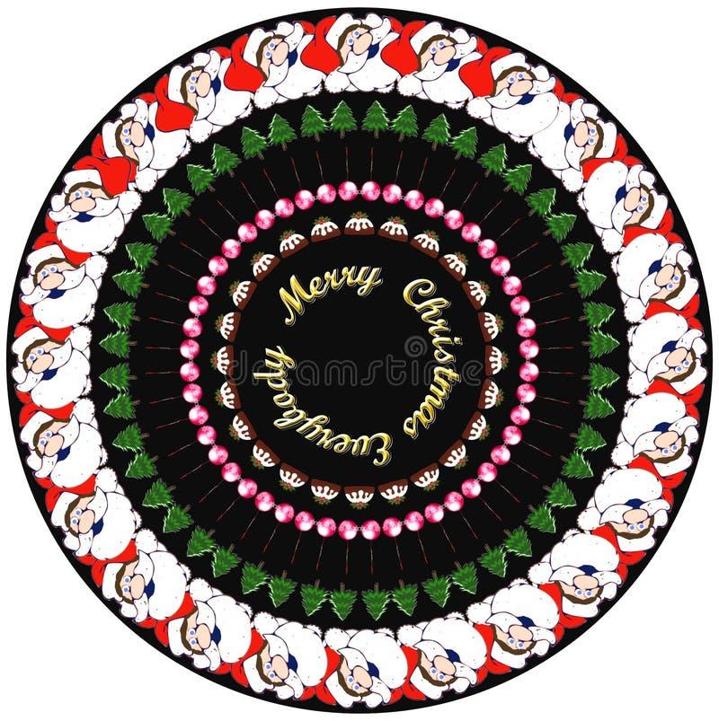 Christmassy design för klistermärkear och gåvor royaltyfri illustrationer
