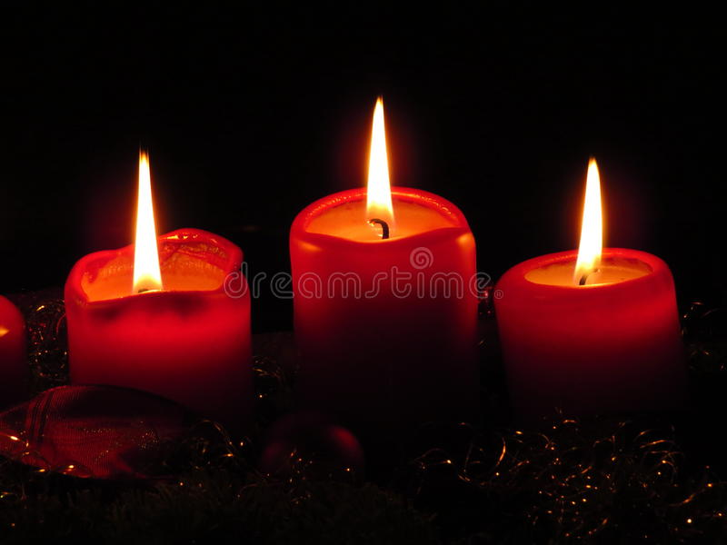Christmast candle royalty free stock images