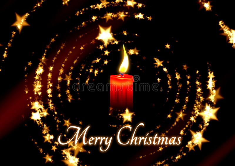 Christmast candle with stars stock images