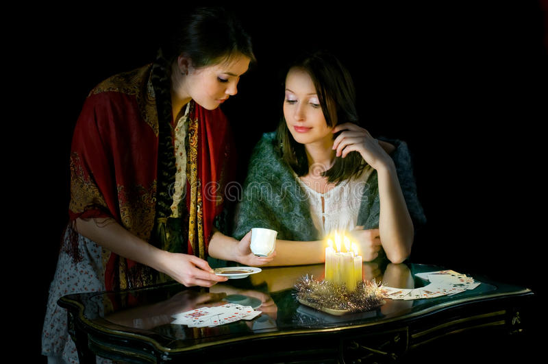 Download Christmastide Fortune-telling Stock Image - Image: 12554047