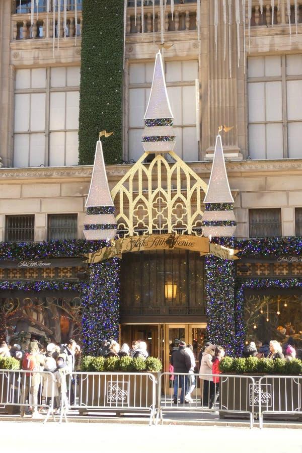 Christmastime的纽约 免版税库存照片