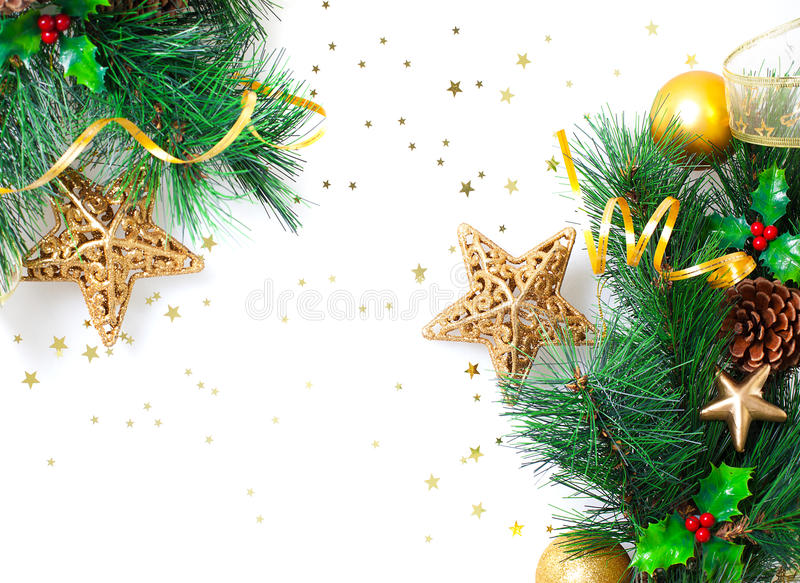 Christmastime边界 免版税库存图片