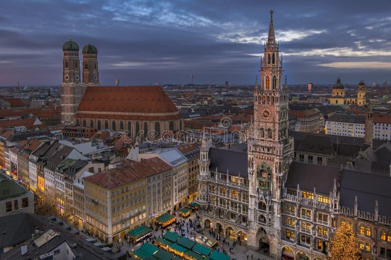 Christmastime στο Μόναχο, Βαυαρία στοκ εικόνες με δικαίωμα ελεύθερης χρήσης