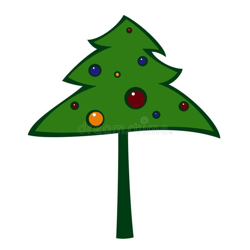 Download Christmastree διανυσματική απεικόνιση. εικονογραφία από παραμονή - 1547496