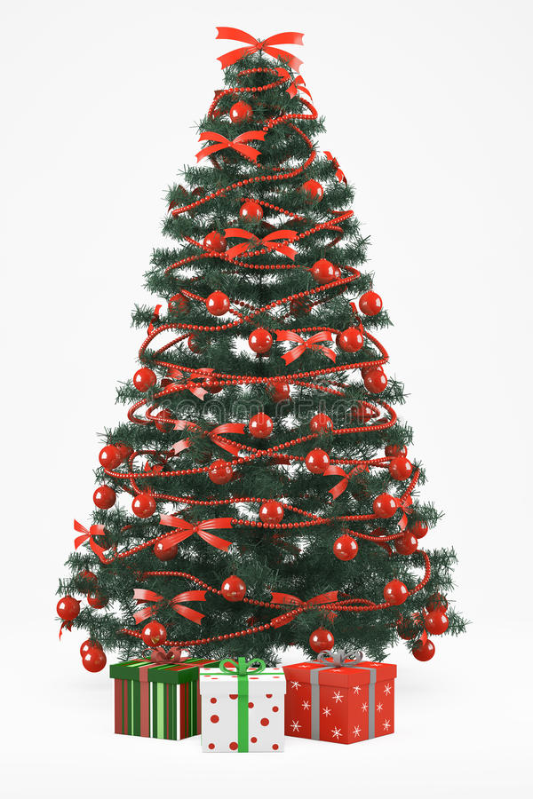 Download Christmastree With 3 Presents Royalty Free Stock Images - Image: 26003619