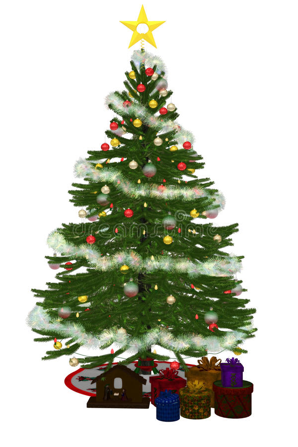 Free Christmastree With Präsent 2 Stock Image - 18646121