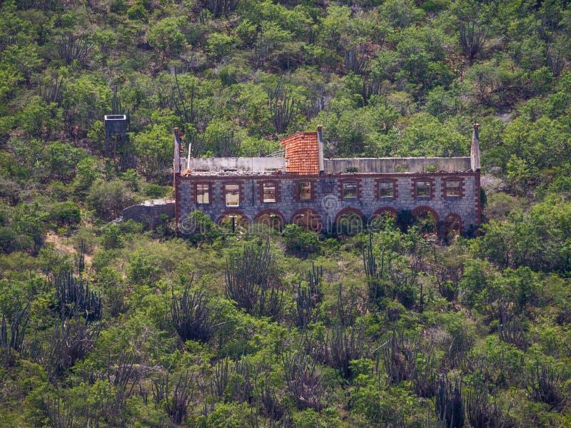 Christoffel Nationaal park - oude ruïne stock fotografie
