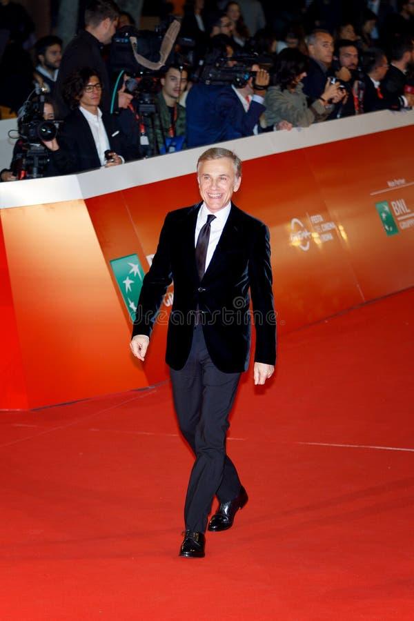 Christoph walc na czerwonym chodniku zdjęcie royalty free