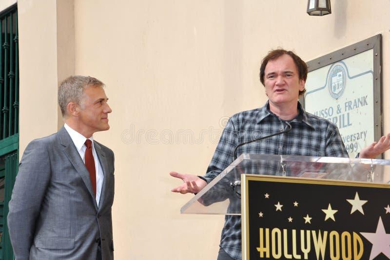 Christoph Waltz et Quentin Tarantino photo libre de droits