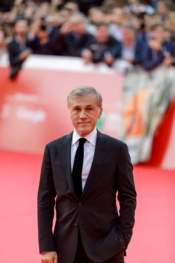 Christoph Waltz på röd matta royaltyfri fotografi