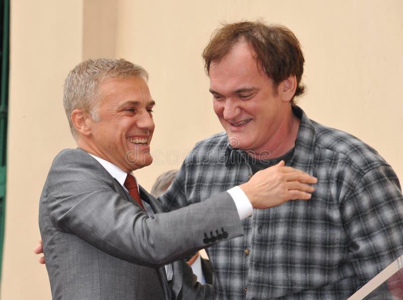 Christoph Waltz u. Quentin Tarantino lizenzfreies stockfoto