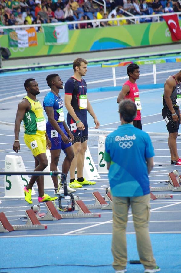 Christophe Lemaitre, ένα γαλλικό sprinter στοκ εικόνες με δικαίωμα ελεύθερης χρήσης