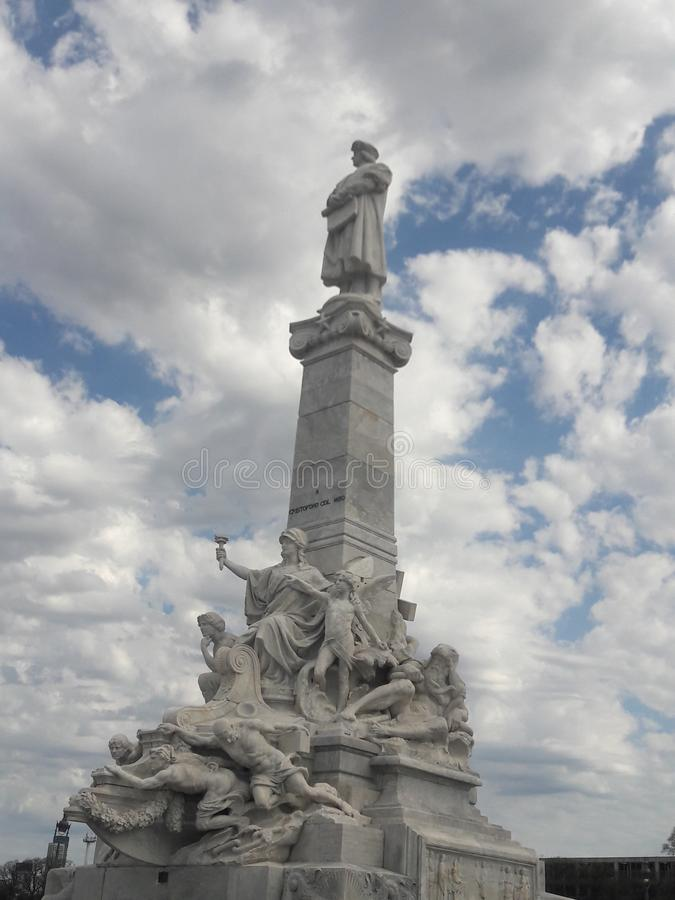 Christopher Colombus monument Buenos Aires Argentina royalty free stock photos