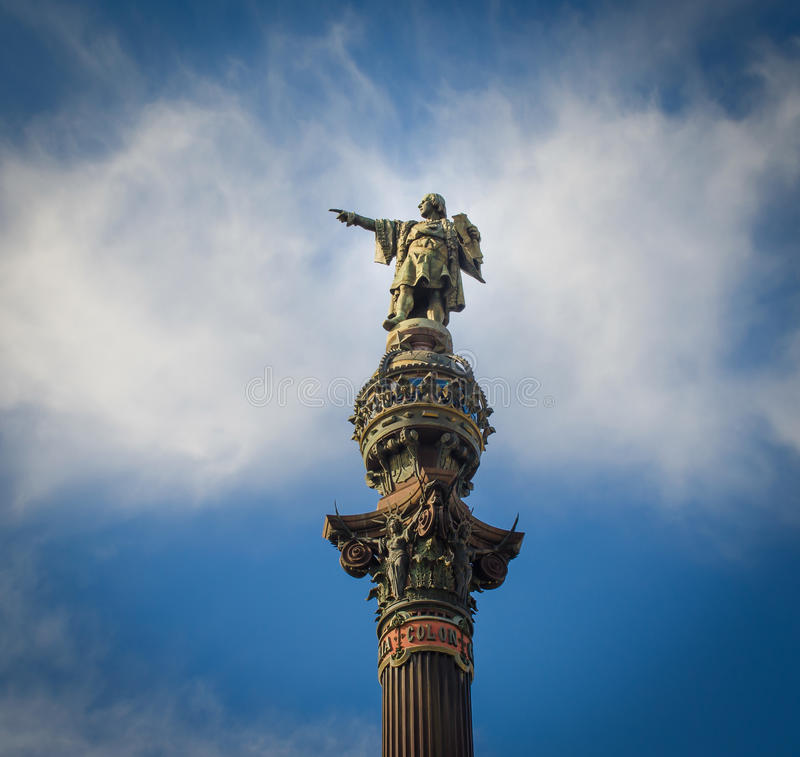 Christopher Colombus statue. In Barcelona royalty free stock images