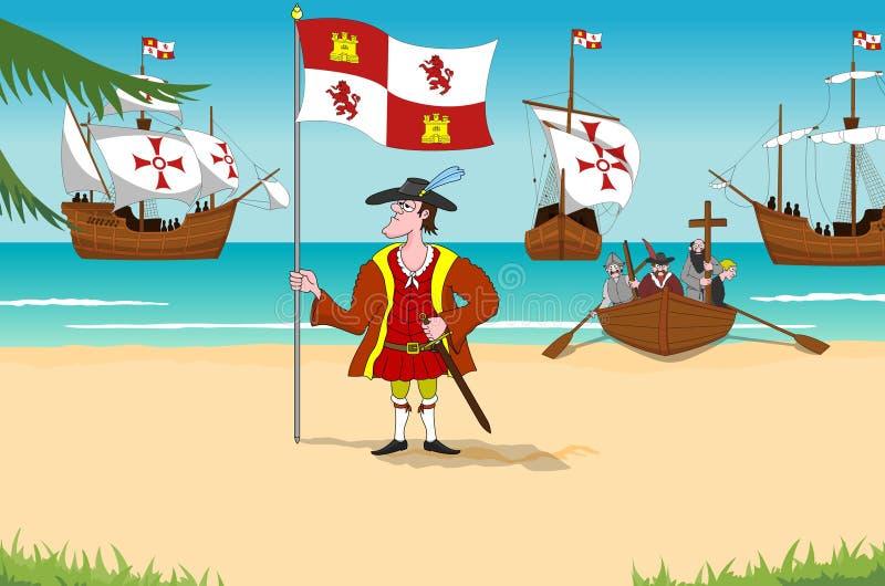 Christopher Columbus illustrazione vettoriale
