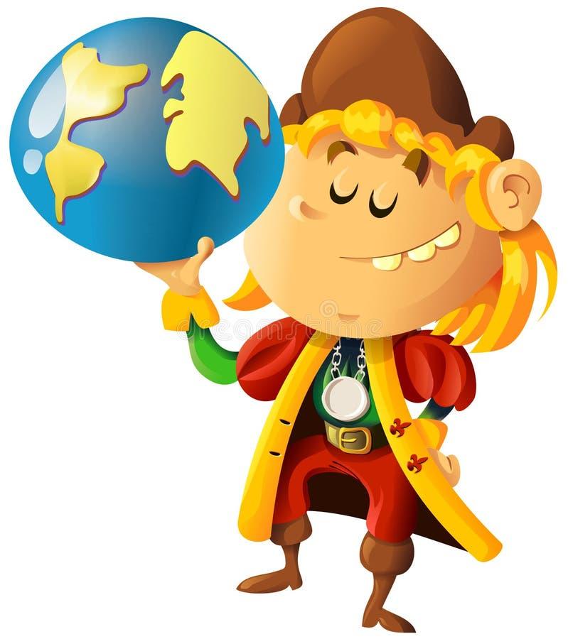 Christopher Columbus royalty illustrazione gratis