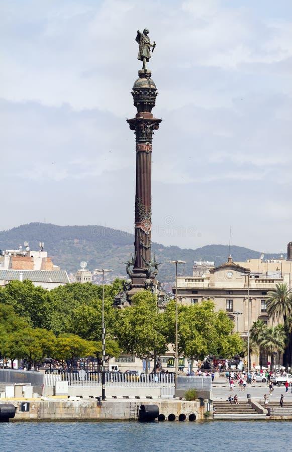 Christopher Columbus Colon - Barcelona fotografering för bildbyråer