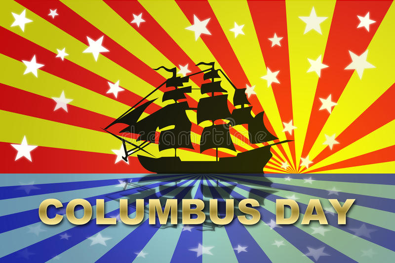 Download Christopher Columbus Day stock illustration. Image of blue - 21070750