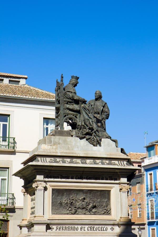 christopher Columbus Granada ja Isabela zdjęcie stock