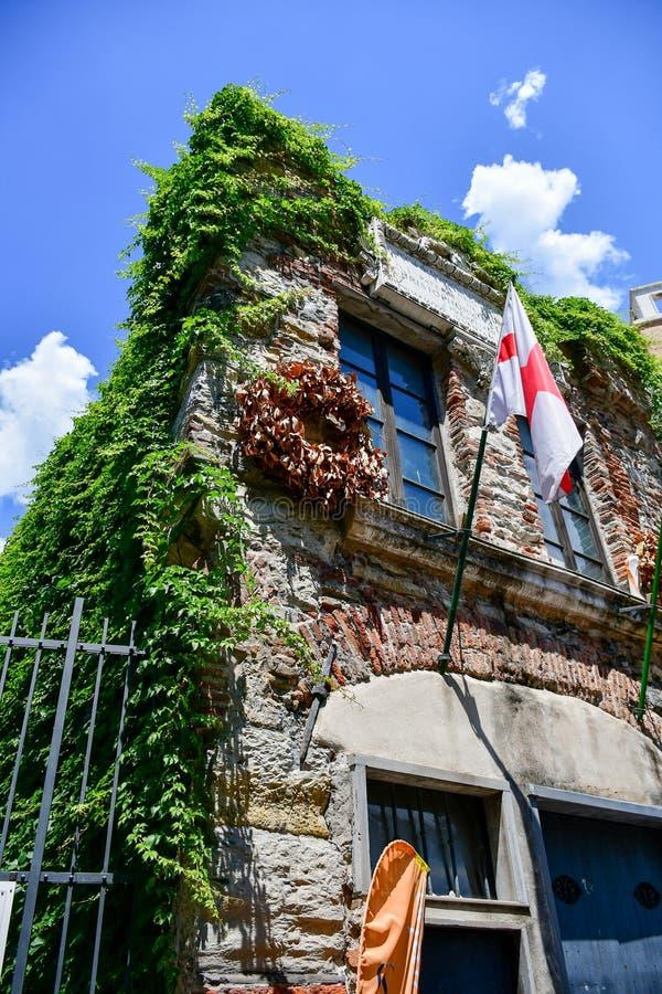 Christopher Columbus House en Génova, Italia foto de archivo
