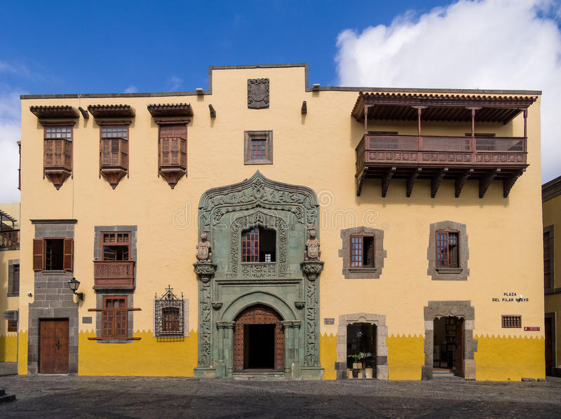 Christopher Columbus House Las Palmas de Gran Canaria photos stock