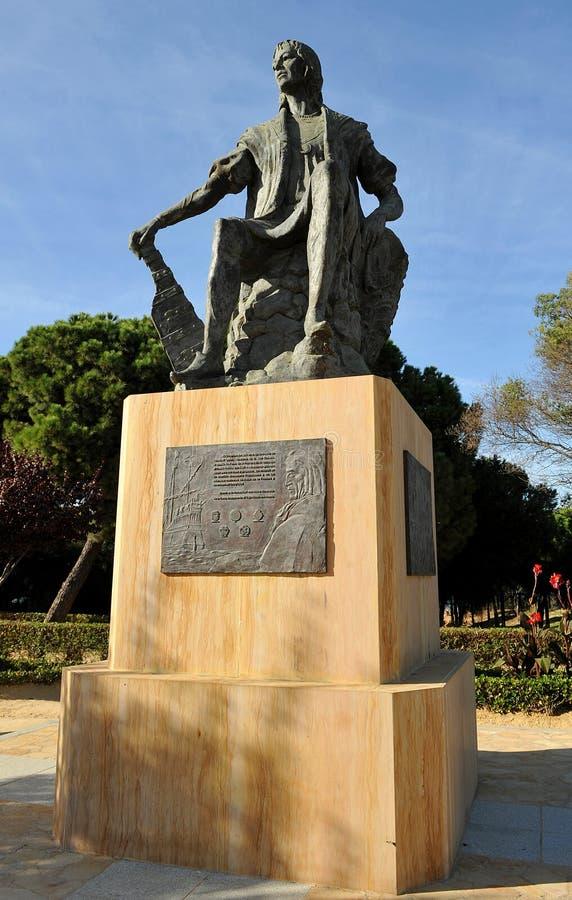 Christopher Columbus, Kloster von La Rabida, Huelva-Provinz, Spanien stockfotografie