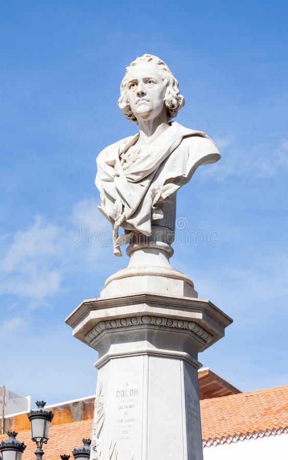 christopher columbus monument royaltyfria bilder